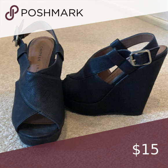 Black Chinese Laundry Wedges In 2020 Womens Shoes Wedges Chinese Laundry Shoes Wedges