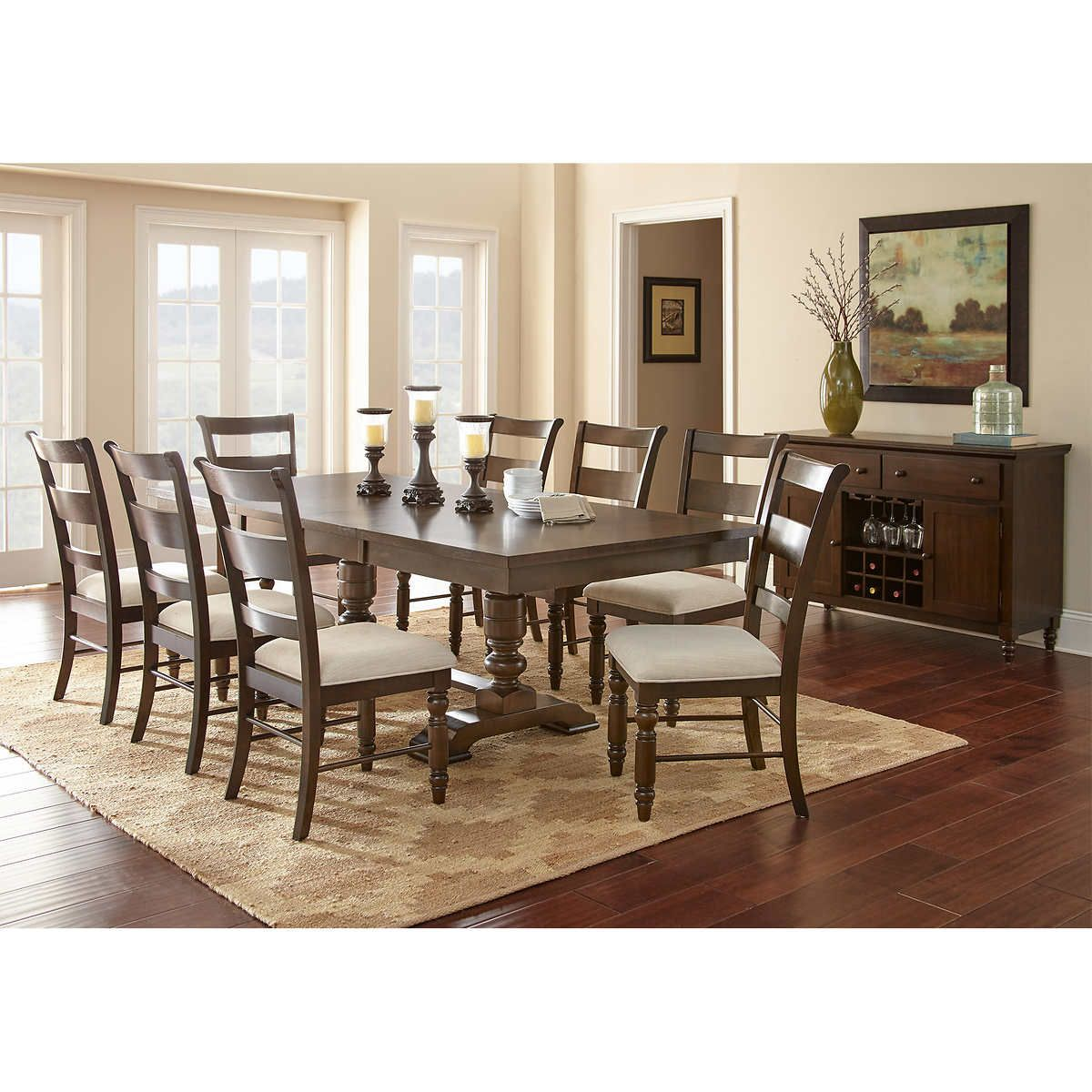 Kaylee 10 Piece Dining Set Dining Room Ambiance Dining Room Rug Dining Table Dimensions