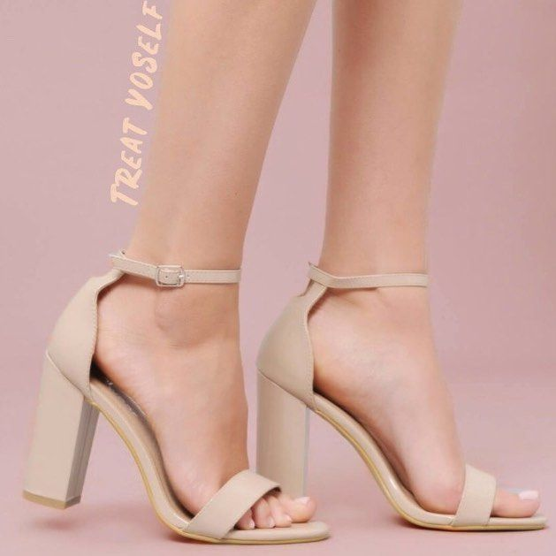 e38839fe7c432a Killing it in Korky s beige nude block strappy heels - I have my party  outfit now