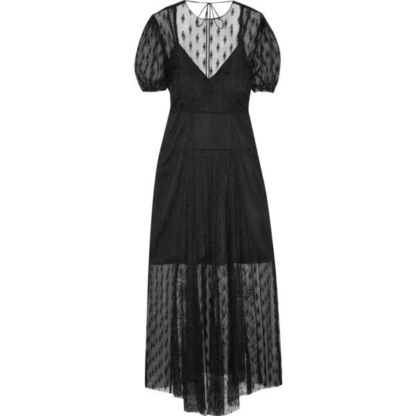 Open-back Embroidered Lace Midi Dress - Black Maje Discount Cheap Price Clearance Store Cheap Price Perfect New Style HwnLSyH