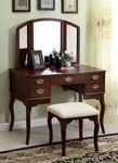 Ashland Vanity Table w/ Stool in Cherry