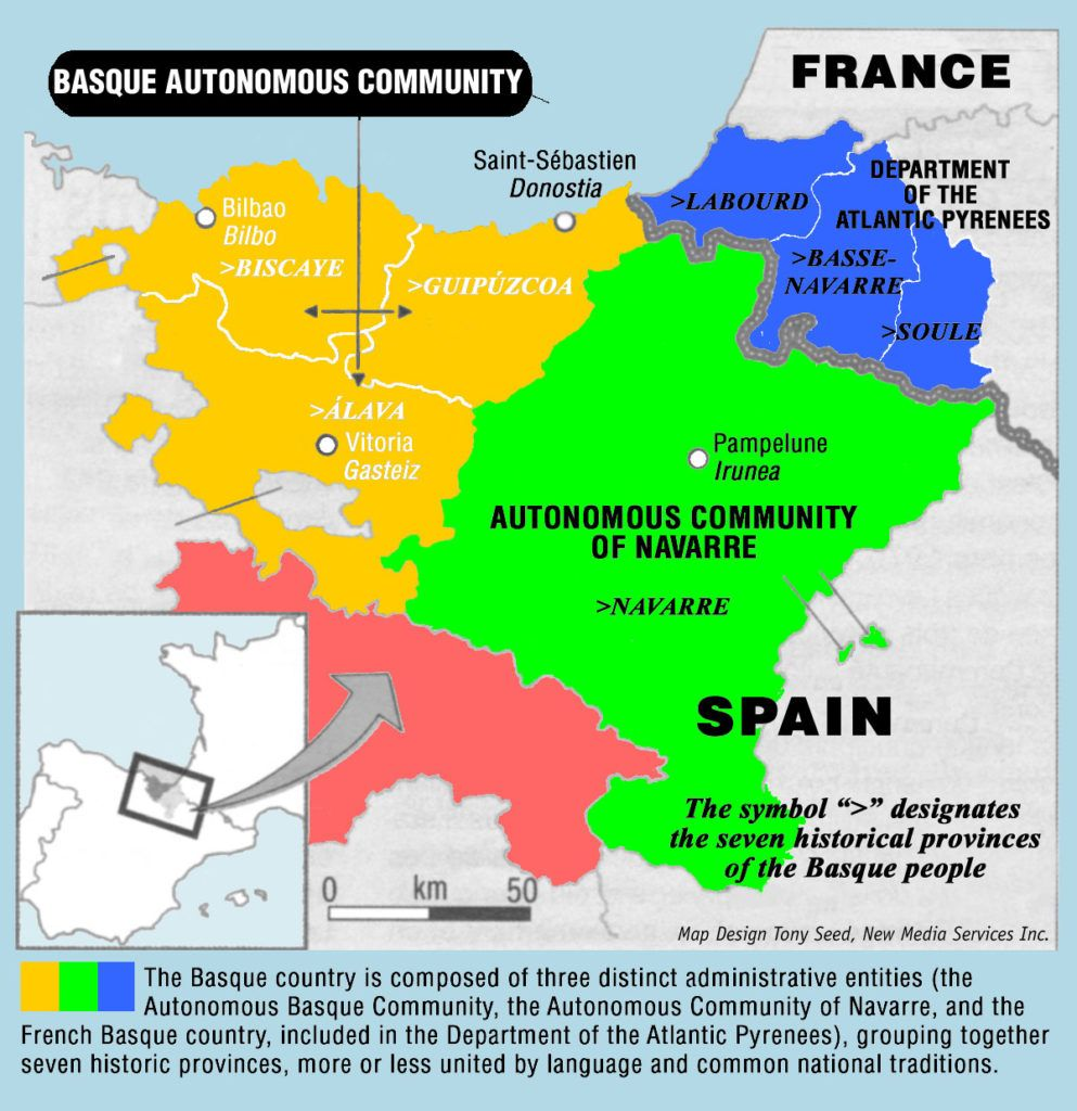 Basque Map Of Spain.Image Result For Detailed Map Basque Country France Spain Basque