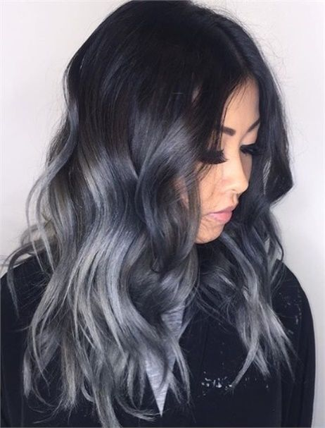Makeover Faded Balayage To Silver Sombre Hair Color Modern Salon