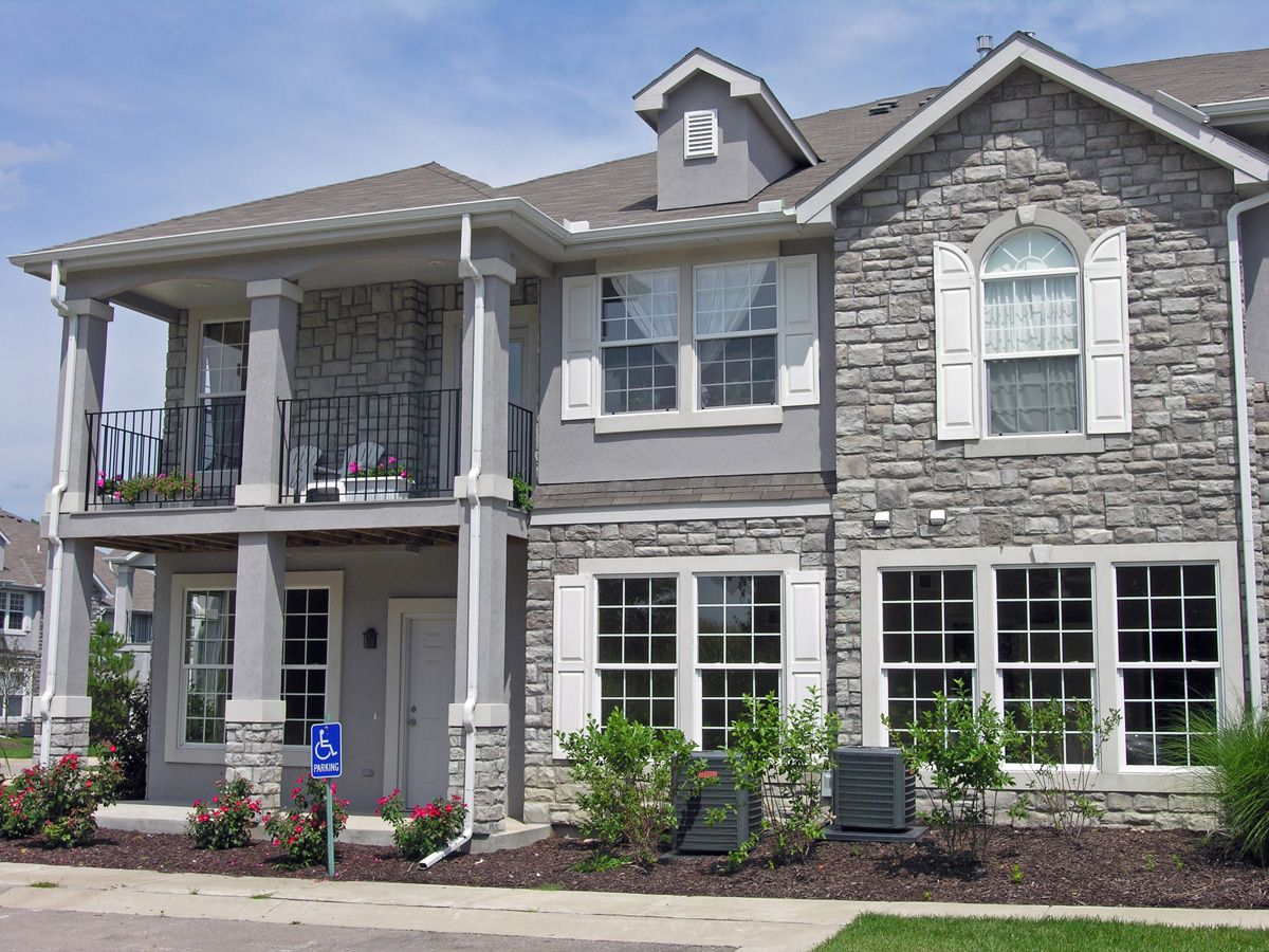 Stone Veneer Elevation : Stone home exterior with for decor