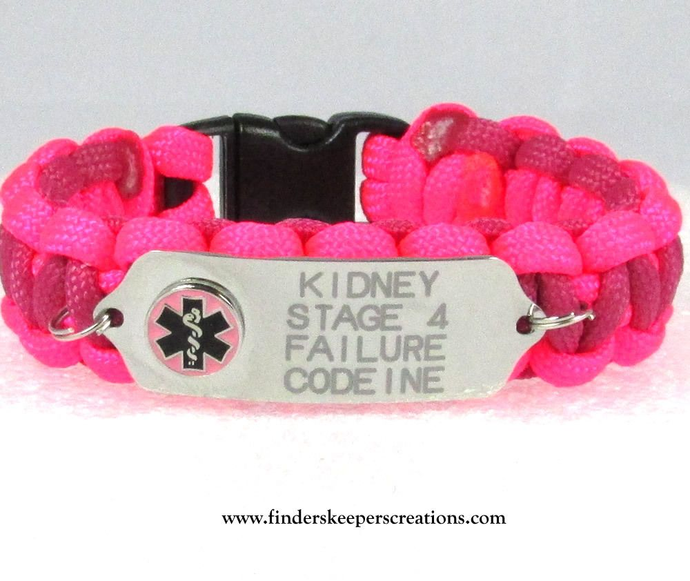 One Sided Medical Alert Bracelet - Finders Keepers Creations, LLC
