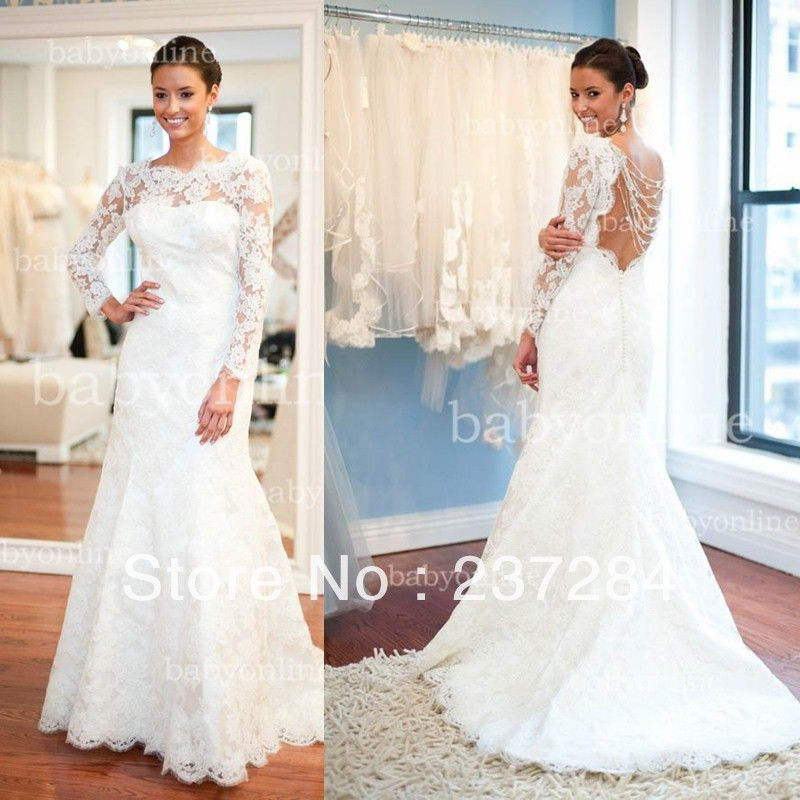 2014 new arrival sexy lace high neck wedding dress sheer for High neck backless wedding dress