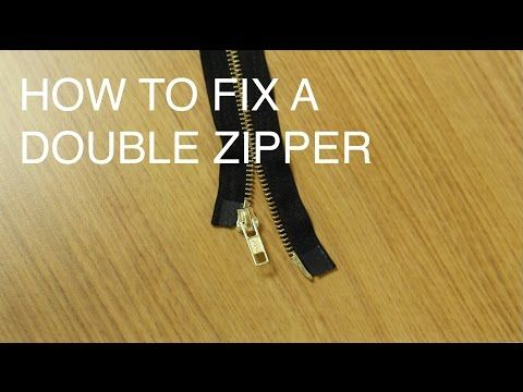 ed83abb2e6d5 How to Fix Repair a Double Slider Zipper (Two Way Separating) - YouTube UCAN  Zippers