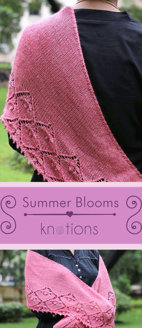 Summer Blooms Shawl   Lace knitting patterns, Free knit ...