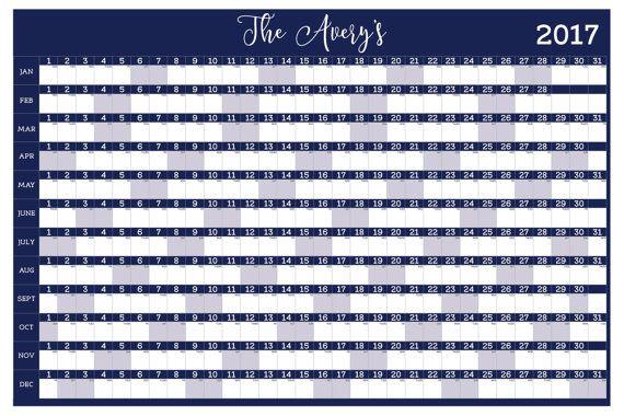 Create your very own custom dry erase wall calendar The calendar is