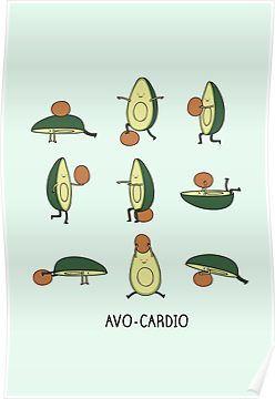 'Avo-cardio' Poster by Milkyprint