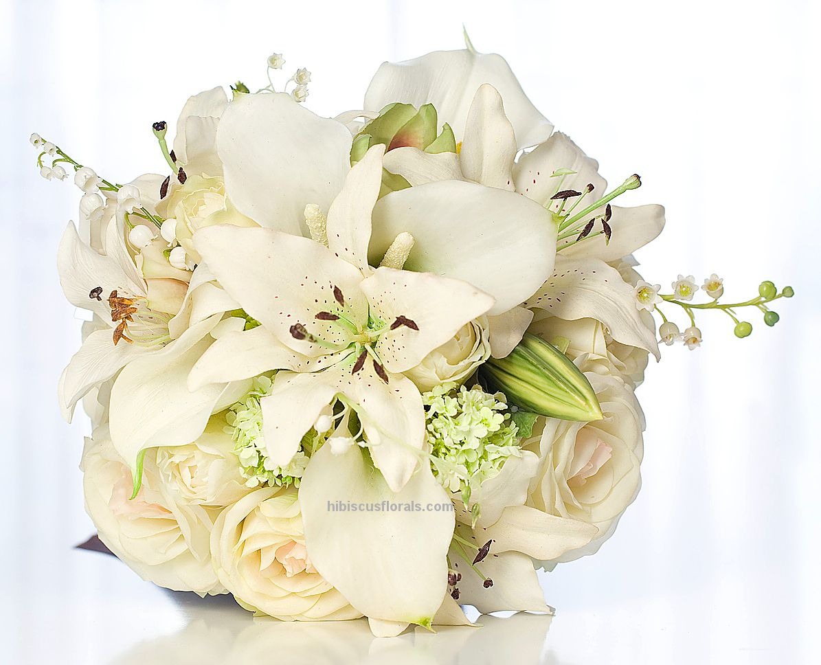 Image detail for Tiger Lilies, Roses & Callas Bridal