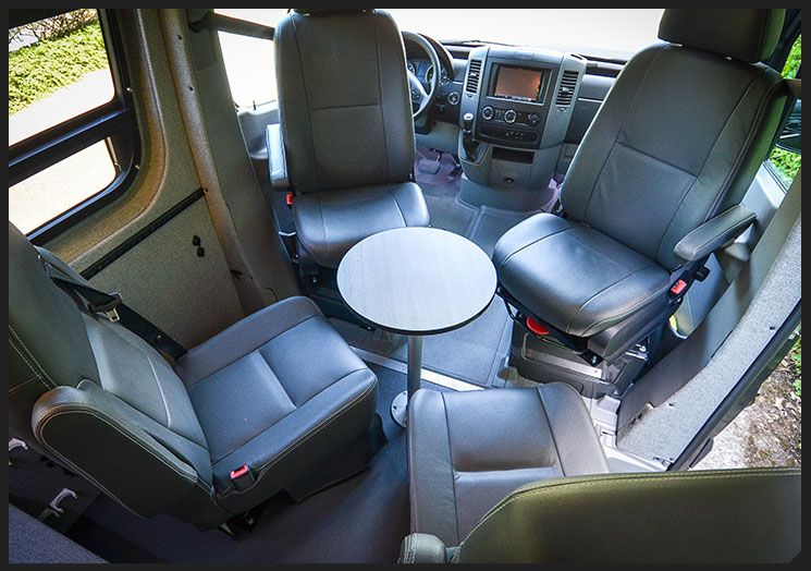 Sprinter Conversion Swivel Seat Bases With Captain Chairs Camper