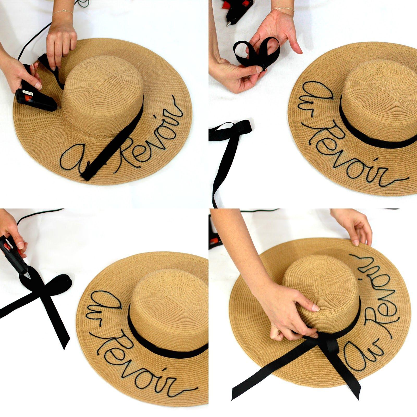 Stilettobeats Diy Eugenia Kim Inspired Straw Hat Straw Hat Diy Straw Hat Hats