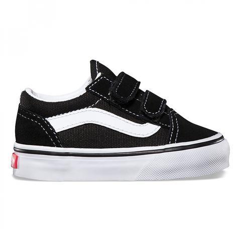 Vans Toddler black Old Skool V shoes | Toddler shoes, Baby