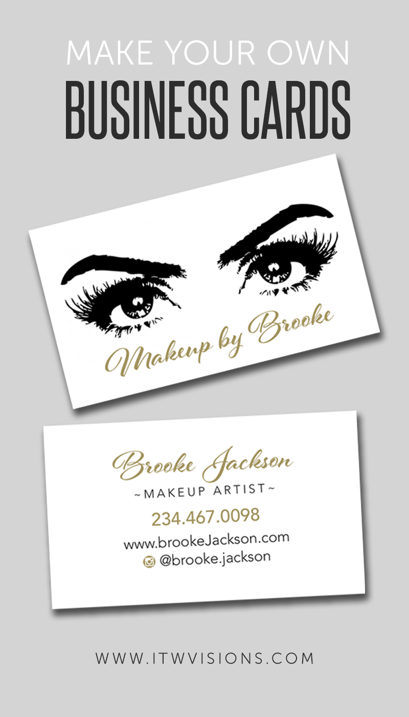 Makeup Artist Business Card - eyes / eyelashes - ALL WHITE ...