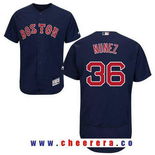 Men s Boston Red Sox  36 Eduardo Nunez Navy Blue Alternate Stitched MLB  Majestic Flex Base cd5335667