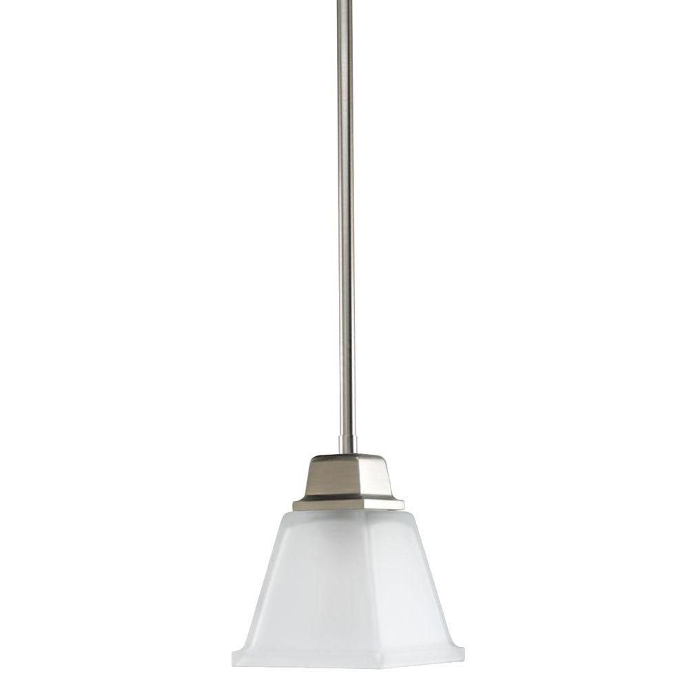 North Park Collection Brushed Nickel 1 Light Mini Pendant