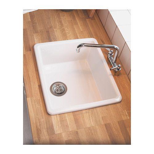 spulbecken ikea domsja inset sink with butcher block countertops why is the drain backwards kuche spule unterschrank