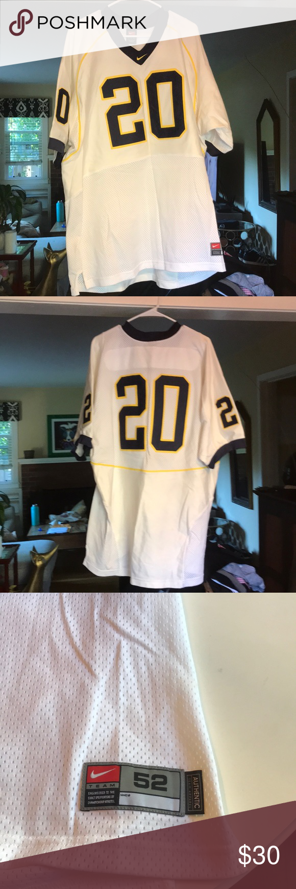 """outlet store fb297 7746e Nike """"Michigan"""" jersey I'm selling my used authentic Nike ..."""