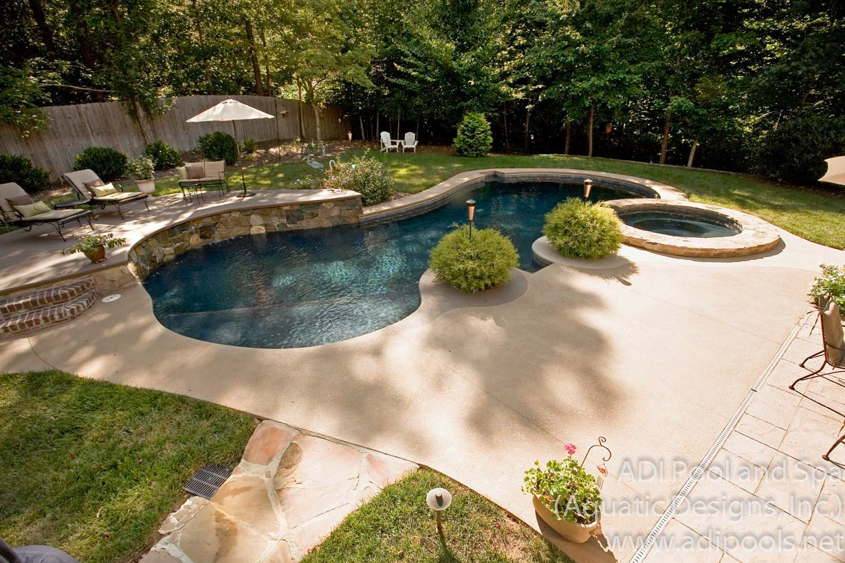 Backyard pool landscaping ideas great outdoors for Backyard inground pool ideas