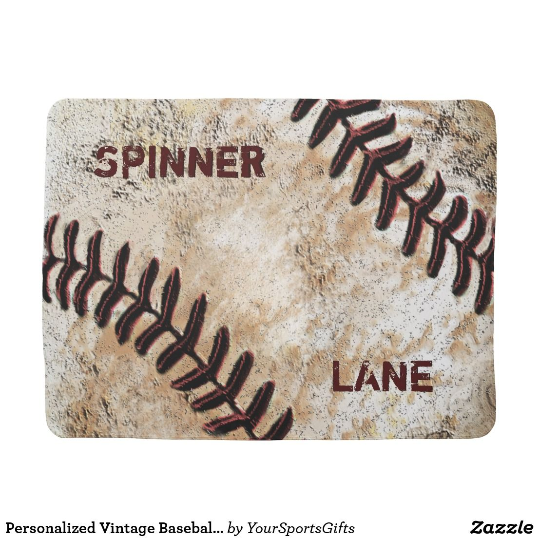 Personalized vintage baseball baby gifts baby blankets pinterest personalized vintage baseball baby gifts negle Images