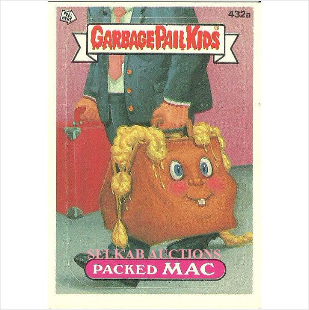 Garbage Pail Kids #432a Packed Mac Trading Card 1987 Topps Chewing Gum Suit Case $3.00