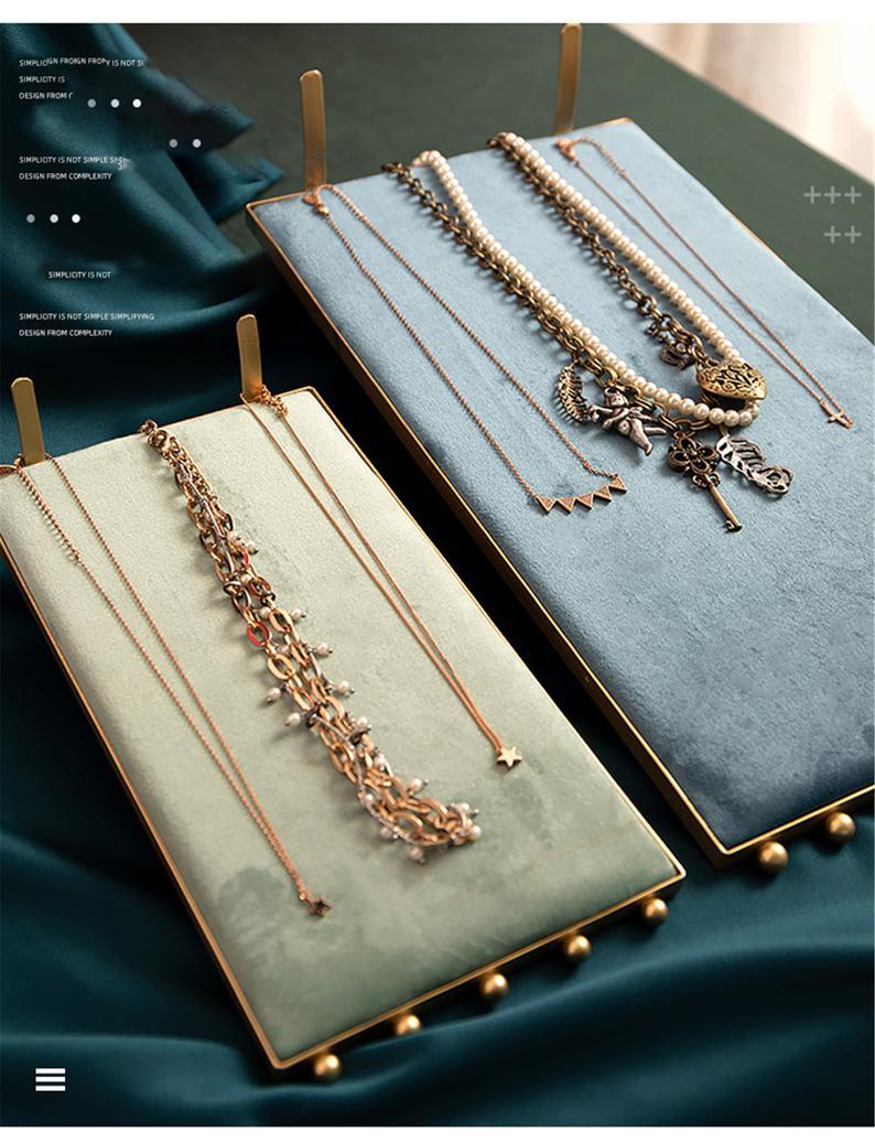 Retro Jewelry Display Velvet Ring Holder Etsy Jewellery Necklace Stand