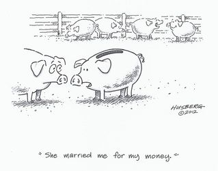 Pigs - She married me for my money - Picture