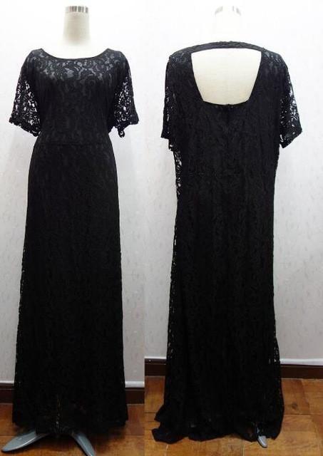 991fa153359 7XL 6XL Plus Size Women Long Lace Dress Large Size Dress Big Size Clothing  Black Ladies 8XL White Backless Maxi Dresses