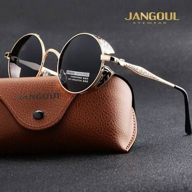 ce350ce2c7 JANGOUL Vintage Polarized Steampunk Sunglasses Fashion Round ...
