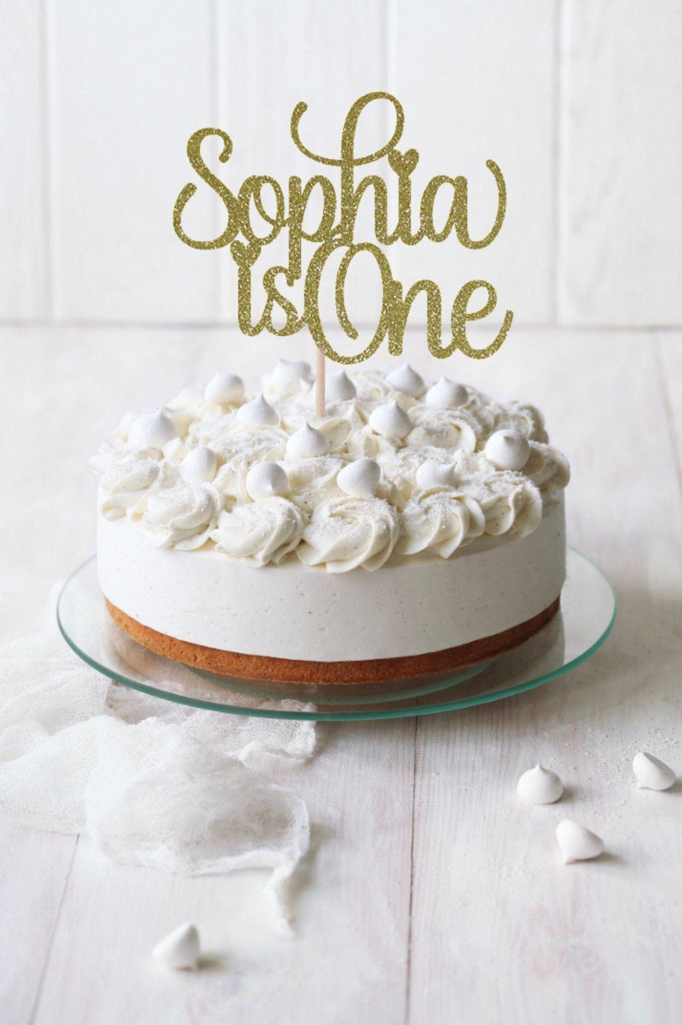 Amazing Any Name One Cake Topper Birthday Cake Topper Happy 1St Birthday Funny Birthday Cards Online Elaedamsfinfo