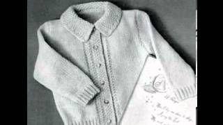 vintage knitting patternsfor baby - YouTube
