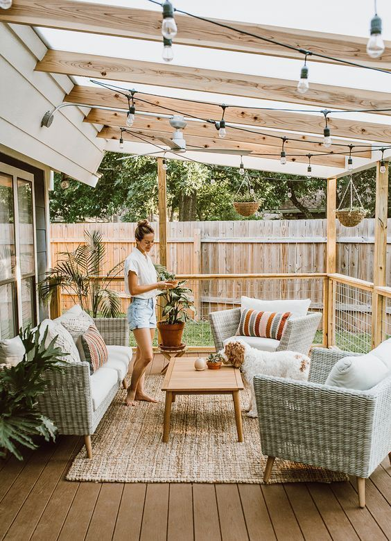 55 Awesome Backyard Patio Design Ideas #patiodesign