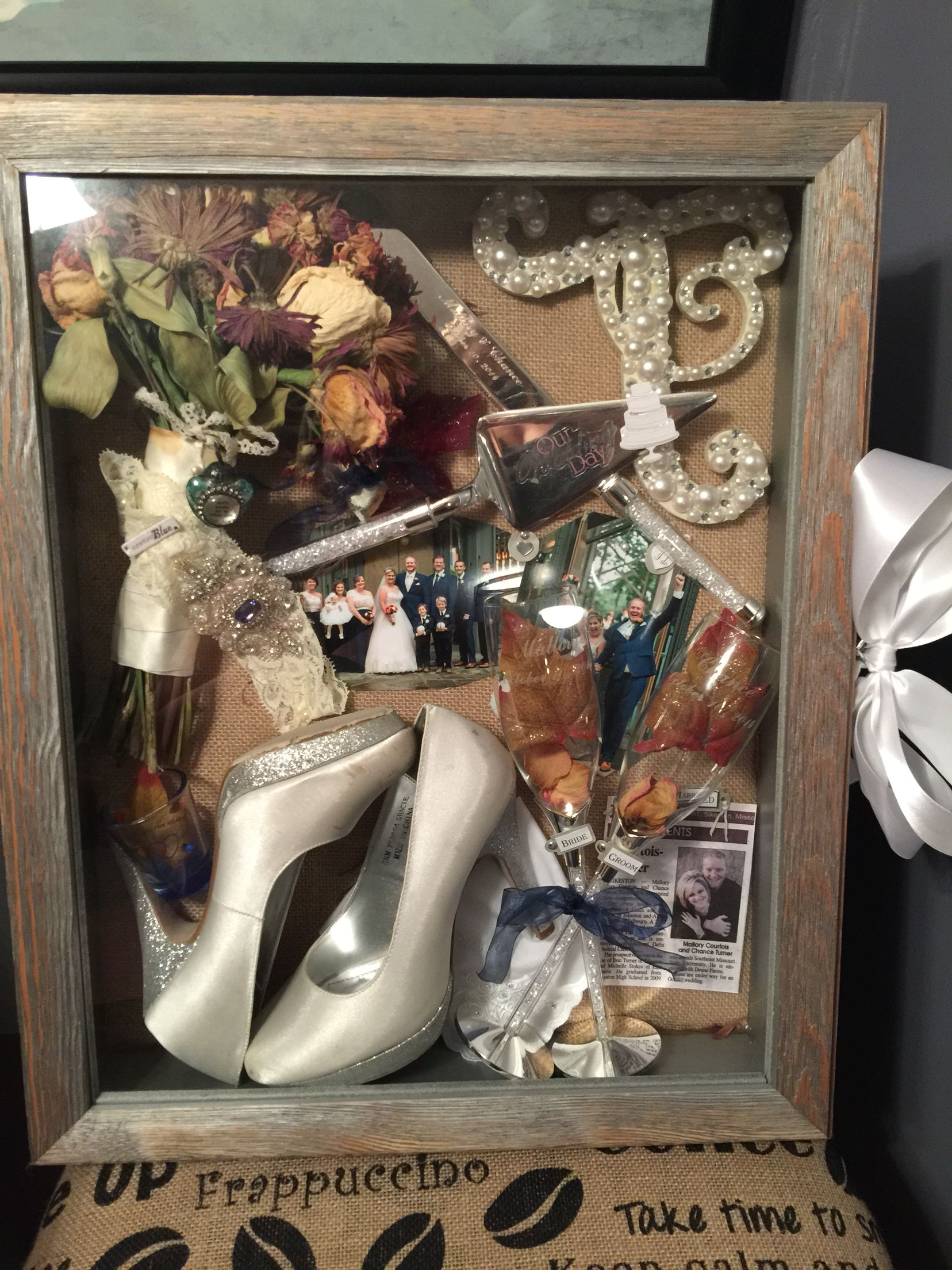 My Wedding Shadow Box Turned Out Perfectly Wedding Wedding