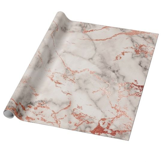 Gray White Rose Gold Pink Marble Stone Brushes Wrapping Paper | Zazzle.com images
