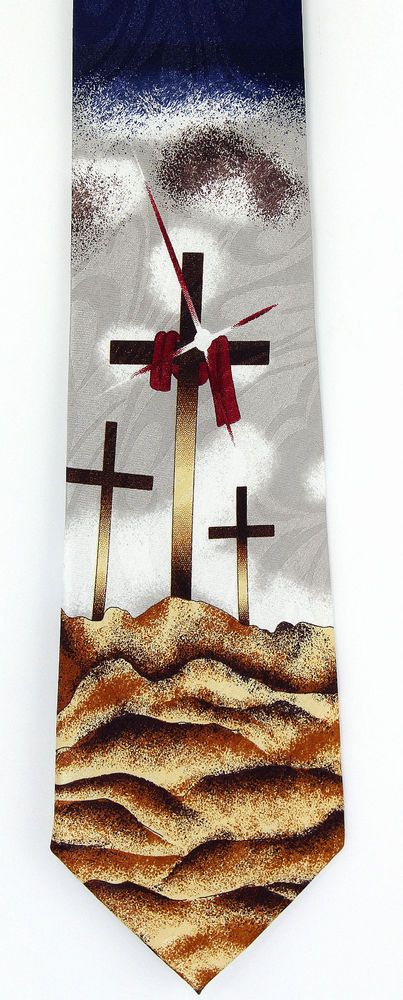 Calvary crosses mens necktie christian easter bible religious gift calvary crosses mens necktie christian easter bible religious gift him tie new negle Image collections