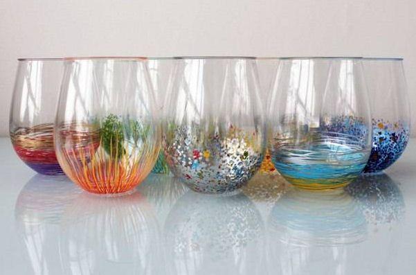 Cómo Decorar Vasos De Vidrio Con Plumones De Aceite
