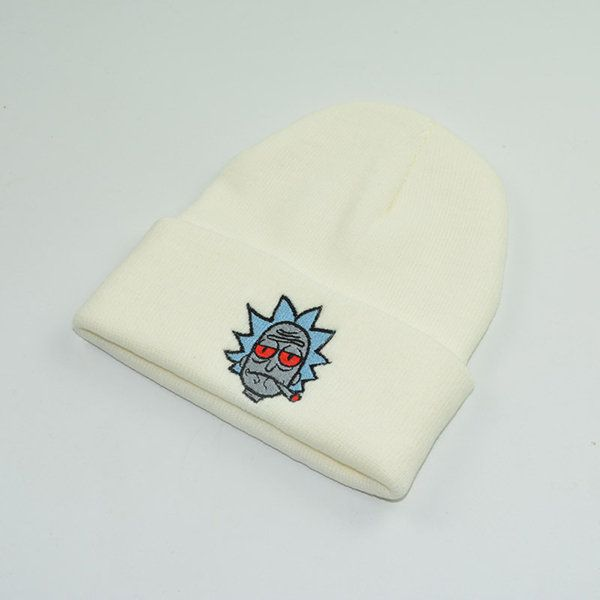 3e56839a901ba Men Women Winter Knitted Thick Rick and Morty Beanie Hats Outdoor Warm High  Stretch Solid Color