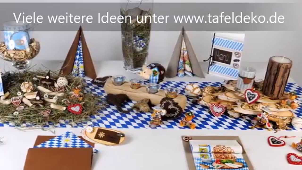 bayrische tischdeko ideen oktoberfest tafeldeko videos. Black Bedroom Furniture Sets. Home Design Ideas