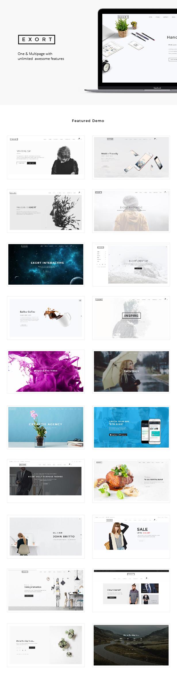 Exort - Responsive Multipurpose HTML Template (Creative) Nulled ...