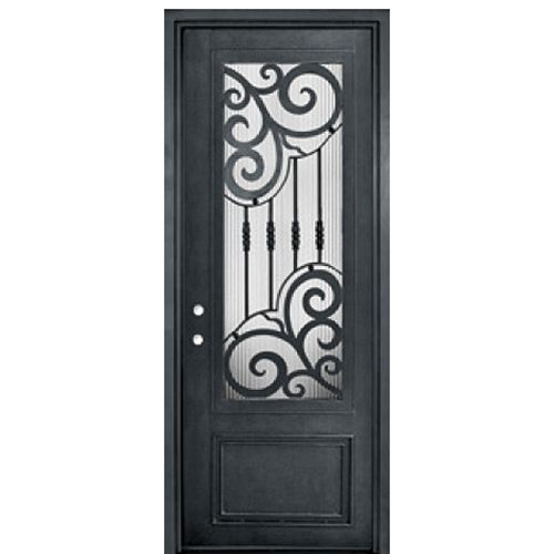 Glasscraft Doors 3 4 Lite Single Barcelona R 42 Wrought Iron Doors Iron Front Door Doors