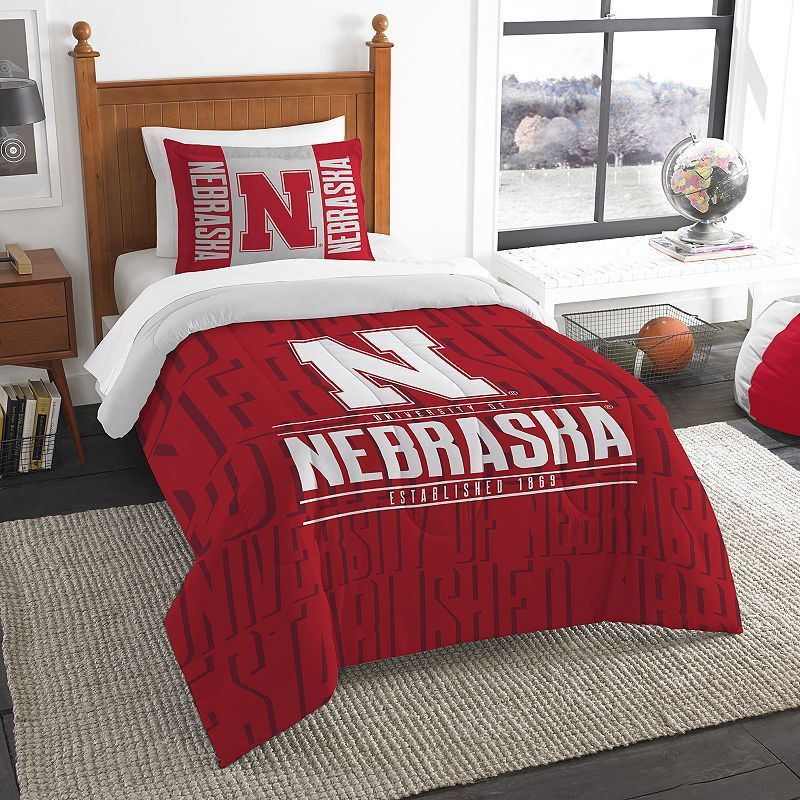 Officially Licensed NCAA Oklahoma Sooners Modern Take Twin Comforter and Sham