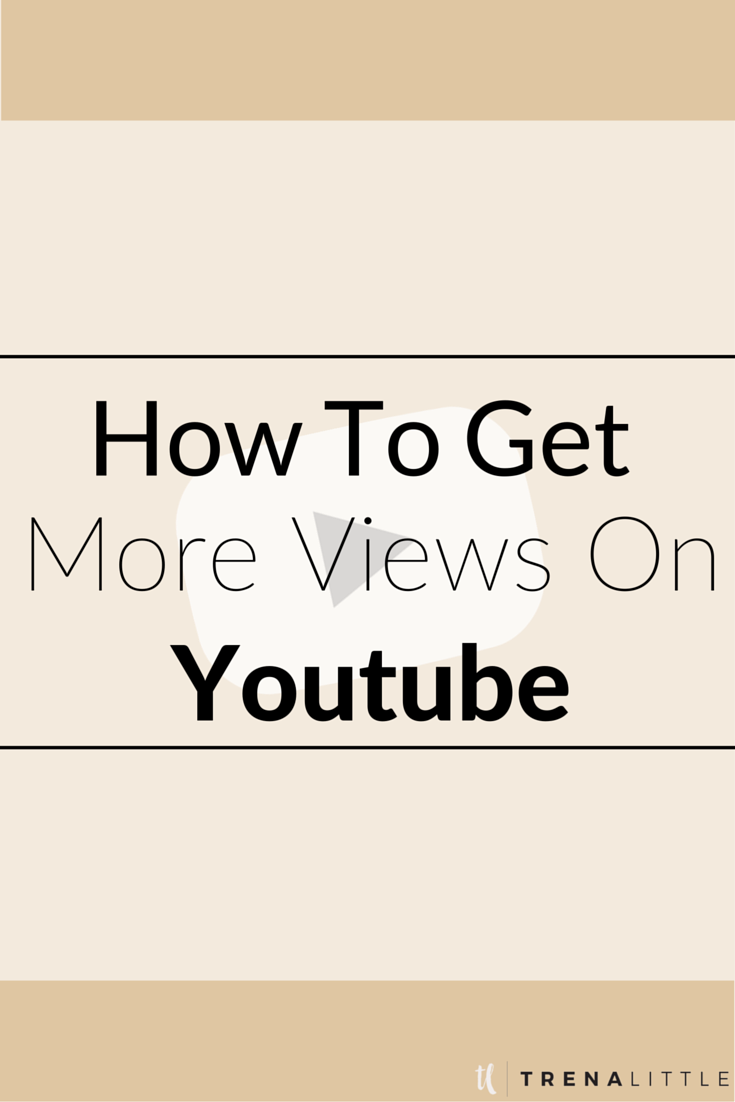Youtube isnt a platform where if you build it they will come, to get views on Youtube you have to work on for it!! Get more views on Youtube by watching my top three tips and see your Youtube views grow. One way to get views on Youtube is by promoting it everywhere! Click through to watch the video to get the rest of my tips for how to increase Youtube views!