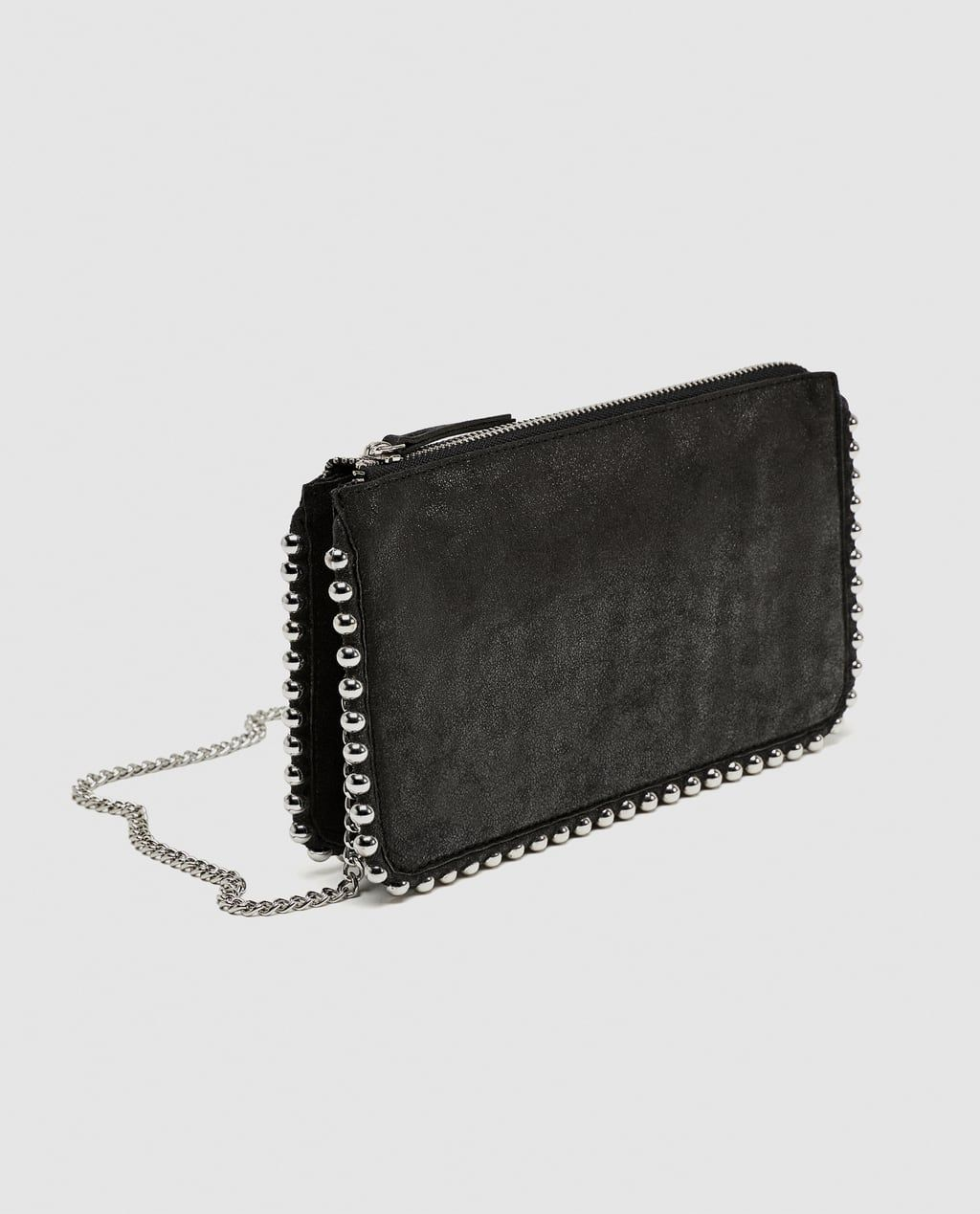 b6d4f6ed4a Studded black crossbody bag | bags | Black cross body bag, Black ...