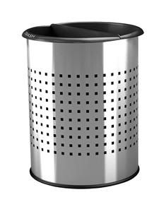 Stainless Steel Hotel Recycling Wastebasket | Indoor Trash Cans ...