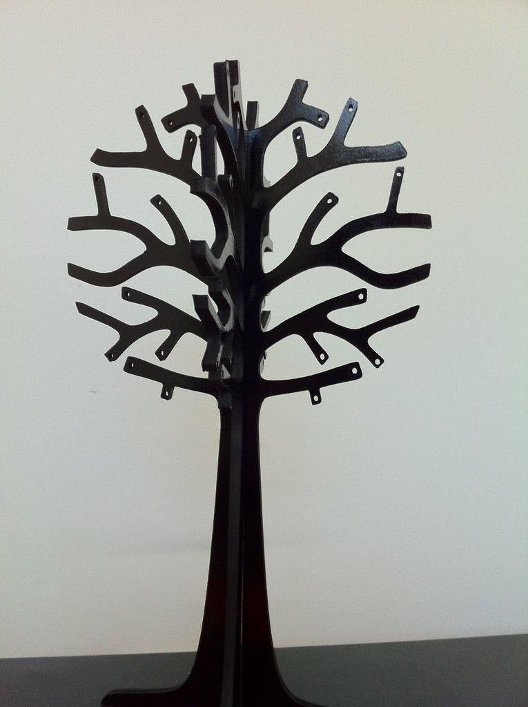 Laser Cut Jewelry Tree 3mm by robyward.