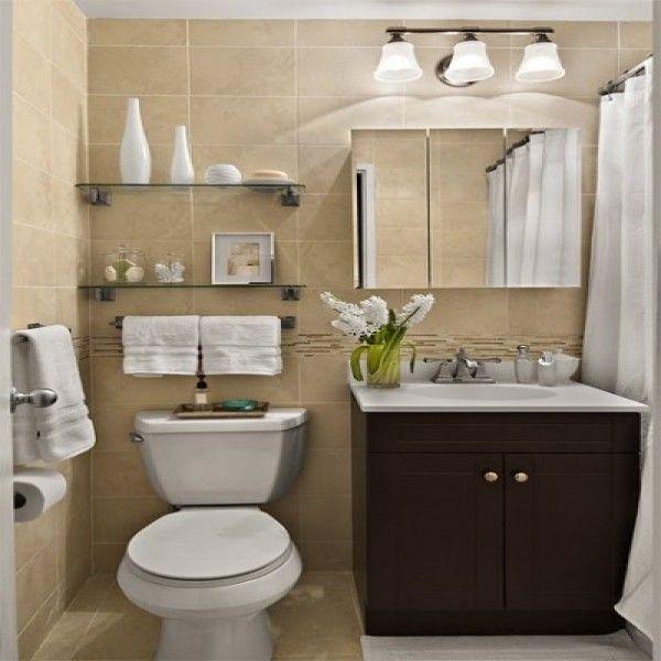Decoração de banheiros pequenos e simples1  Banheiros  Pinterest  Decorac -> Decoracao De Banheiro Muito Pequeno