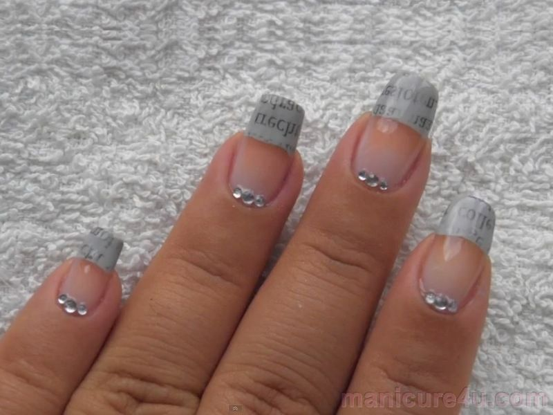 Newspaper Nails   Nail Art Designs   Pinterest   Newspaper nails and ...
