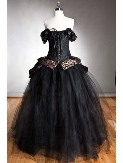Black Romantic Gothic Corset Gowns. Beautiful! | Widder Must haves ...