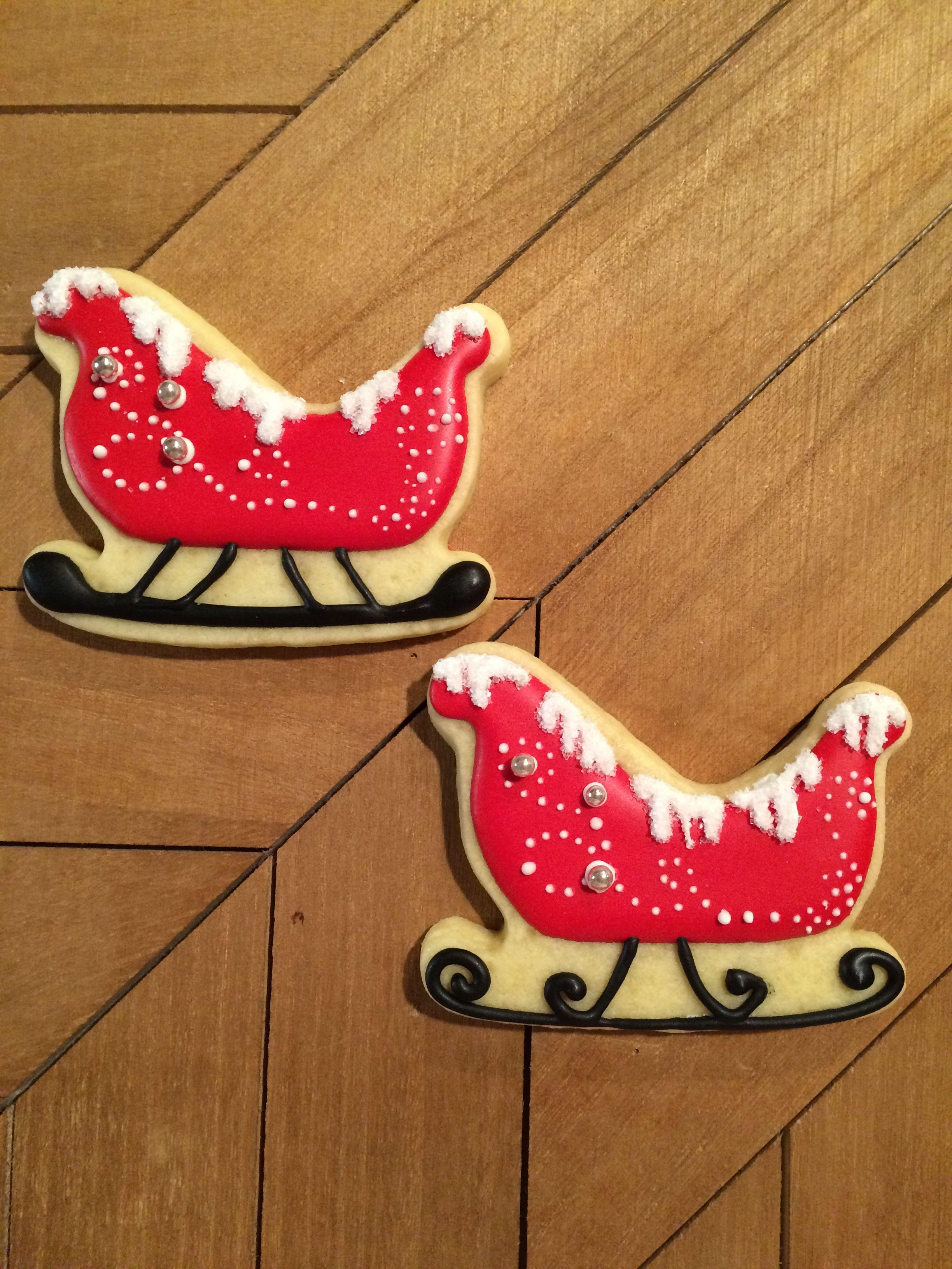 Sleigh Cookie Christmas Cookie Christmas Sugar Cookies